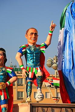 Fabio Cannavaro mask, Carnival 2007, Viareggio, Tuscany, Italy