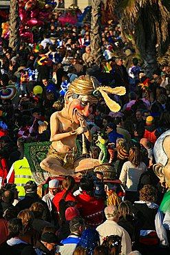 Silvio Berlusconi mask, Carnival 2007, Viareggio, Tuscany, Italy