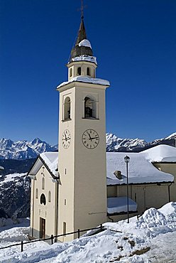 Church, Chamois, Valle d'Aosta, Italy