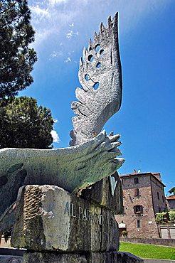 Paratrooper monument, Viterbo, Lazio, Italy
