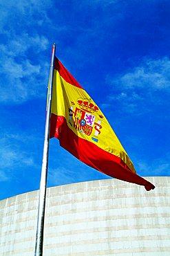 Spanish flag, Madrid, Spain, Europe