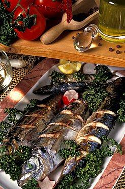 Roast mackerels, Italy