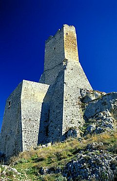 Watch tower, Pescina Castle, Abruzzo, Italy