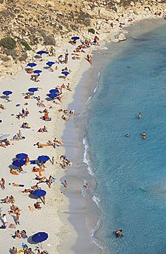 Beach, Conigli island, Lampedusa island, Sicily, Italy