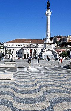 Rossio square, Lisbona, Portugal, Europe