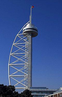 Tower, Parque dos Naçoes design area (Ex Expo 98 site), Lisbona, Portugal, Europe
