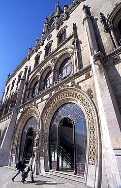 Estação do Rossio historical railway station, Lisbona, Portugal, Europe