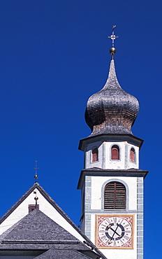 Church, San Cassiano, Val Badia, Trentino Alto Adige, Italy