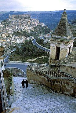 Cityscape, Ragusa Ibla, Sicily, Italy