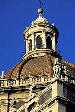 Dome, Badia di Sant'Agata church, Piazza Duomo, Catania, Sicily, Italy