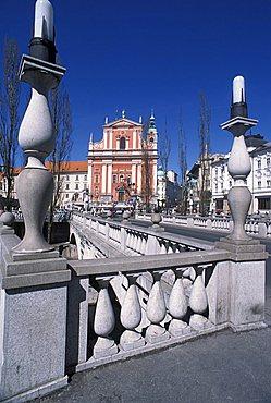 Francescani church, Ljubljana, Slovenia, Europe