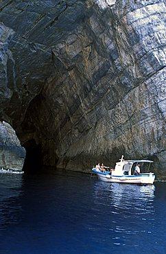 Grotta della Bombarda cave, Marettimo island, Egadi islands, Sicily, Italy