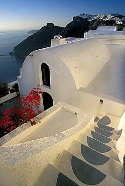 Firostefani village, Santorini island, Greece, Europe