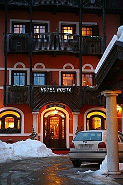 Posta hotel, Madonna di Campiglio, Trentino Alto Adige, Italy