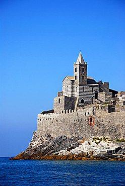 San Pietro church, Portovenere, Liguria, Italy, Mediterranean, Europe