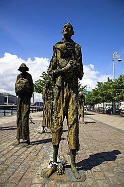 Famine memorial, Dublin, Republic of Ireland, Europe