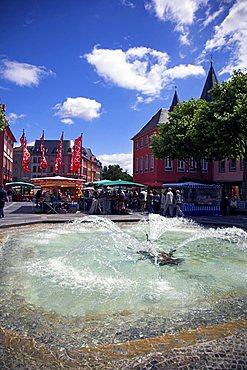 Market square, Mainz, Rheinland-Pfalz, Germany, Europe