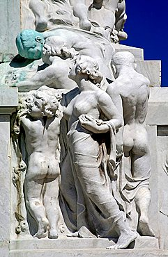 Detail, Maximo Gomez monument, Havana, Cuba, West Indies, Central America