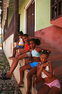 Children, Trinidad, Cuba, West Indies, Central America