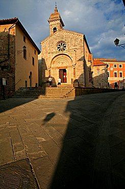 Collegiata church, San Quirico d'Orcia, Tuscany, Italy, Europe