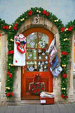 Christmas time, Rothenburg ob der Tauber, Bavaria, Germany, Europe