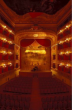 Municipal theatre Giuseppe Verdi, Salerno, Campania, Italy