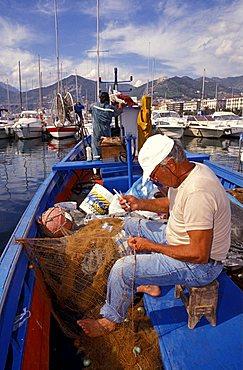 Fisherman, Salerno, Campania, Italy