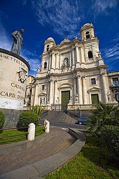San Francesco square, Catania, Sicily, Italy, Europe