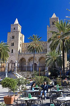 Cathedral square, Cefalu, Sicily, Italy