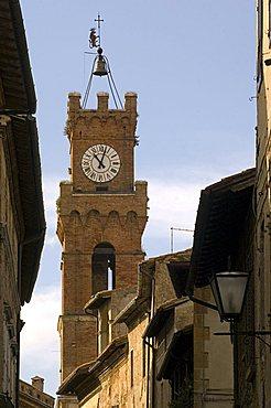 Clock tower, Pienza, Italy