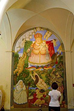 Fernando Botero, Heaven's door fresco, Pietrasanta, Tuscany, Italy