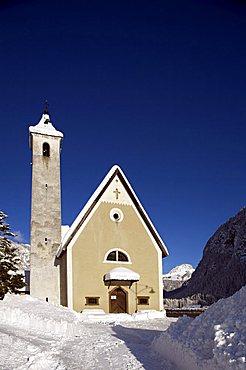 Church, Fontanazzo, Fassa Valley, Trentino Alto Adige, Italy