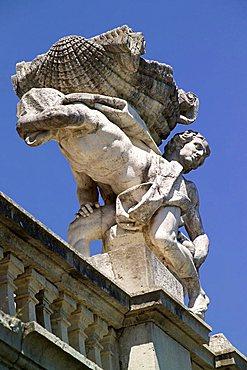 Detail,  La Fontana di Eolo fountain, Reggia di Caserta park, Caserta, Campania, Italy, Europe