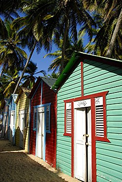 Traditional houses, Punta Cana, Dominican Republic, West Indies, Central America
