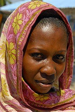 Portrait of a woman, Zanzibar, United Republic of Tanzania, Africa