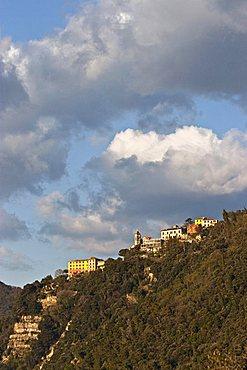 San Rocco di Camogli from Punta Chiappa, Ligury, Italy