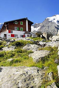 Zamboni Zappa refuge, Macugnaga, Anzasca Valley, Ossola Valley, Verbania province, Piedmont, Italy