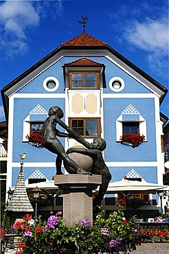 Pedestrian centre, Ortisei, Gardena Valley, Alto Adige, Bolzano Province, Italy