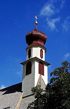 Bell tower, Ortisei, Gardena Valley, Alto Adige, Bolzano Province, Italy