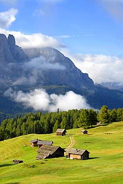 Alpine hut, near Juac refuge, Puez Odle natural Park, Gardena Valley, Alto Adige, Italy