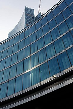 Façade, Palazzo della Regione new building, designed by Pei Cobb Freed & Partners, Milan, Lombardy, Italy, Europe
