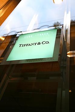 Tiffany & Co shop window, Via della Spiga 197 street, Milan, Lombardy, Italy, Europe