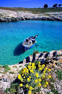 Coast, Porto Badisco, Salentine Peninsula, Apulia, Italy