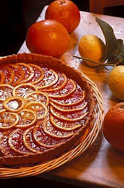 Orange pie, Marcucci winery, Pietrasanta, Tuscany, Italy