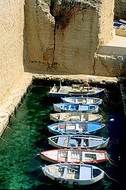 Harbour excavated in rocks, Santa Cesarea Terme, Apulia, Italy