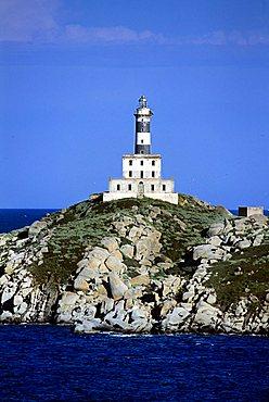 Lighthouse, Cavoli island, Villasimius, Sardinia, Italy