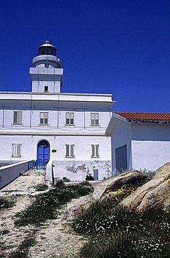 Lighthouse, Capo Testa, Sardinia, Italy