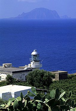 Lighthouse, Salina Island, Aeolian Islands, Sicily, Italy