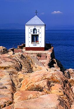 Virgin Mary statue, La Maddalena, Sardinia, Italy