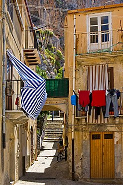Fishermens houses near Cefalù, Sicily, Italy